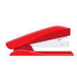red plastic stapler vector image