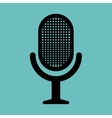 retro microphone news graphic vector image