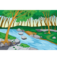 river flowing in nature vector image vector image