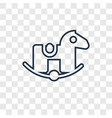 rocking horse concept linear icon isolated on vector image