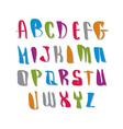 Script font alphabet letters vector image vector image