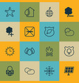 set of 16 eco icons includes insert woods delete vector image vector image