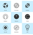 Set of black sports icons vector image vector image