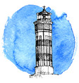 sketch lighthouse vector image