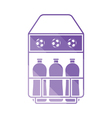 Soccer field bottle container icon vector image vector image