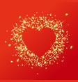 sparkling golden heart love vector image