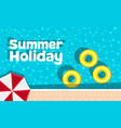 summer holiday banner with space for text vector image vector image