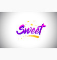 sweet purple violet word text with handwritten vector image vector image
