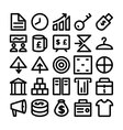 Trade Icons 4 vector image