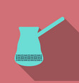 turk with hot coffee of coffee and refreshing vector image vector image