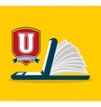university emblem education icon vector image vector image