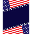 us abstract flag symbols background vector image vector image