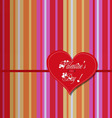 valentine colourful heart card vector image vector image