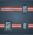 veterans day realistic banners with ribbons vector image