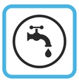 Water Tap Icon In a Frame vector image vector image