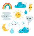 Weather set vector image vector image