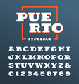 Wide slab serif font alphabet with latin letters vector image