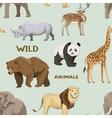 Wild animals set pattern