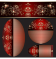 Set gradient banners various shapes vector image