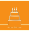 Abstract background with birthday cupcake vector image vector image