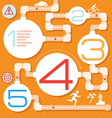 Action steps painted a labyrinth vector image vector image