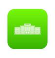 airport building icon digital green vector image