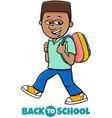 boy student back to school cartoon vector image vector image