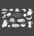 breakfast icons glyph vector image vector image