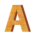 brick letter A vector image