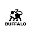 buffalo logo concept stock vector image