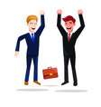 business people at work jumping for success work vector image vector image