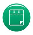 calendar clean icon green vector image vector image