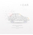 car shape digitally drawn low poly wire frame vector image