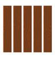 cartoon wooden plank set flat style boards vector image