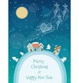 christmas a snowy village vector image