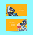 cinematograph business card of set template vector image vector image