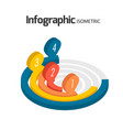 circle infographic isometric image vector image