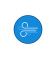 circle with wind sign linear concept blue vector image