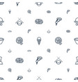 cuisine icons pattern seamless white background vector image vector image