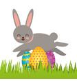 cute rabbit character easter season vector image vector image