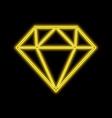 diamond gem jewel neon sign bright glowing symbol vector image vector image
