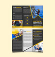 electrical services trifold brochure design vector image vector image