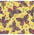 Fashion Butterflies pattern Colorful objects on vector image