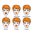 Female face expression set