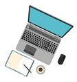 Flat design Laptop on table vector image vector image