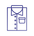 folded shirt icon in flat laundry cleaning vector image vector image