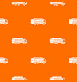 garbage truck pattern seamless vector image vector image