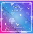 geometric dynamic diagonal blue pink background vector image vector image