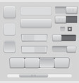 gray interface buttons and sliders 3d set of ui vector image vector image