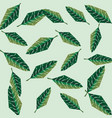 green leaves floral foliage background vector image